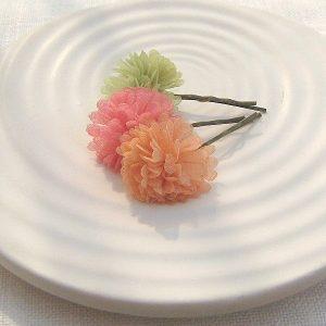 Gossamer Pompom Hair Clip Set by EVY DESIGNS