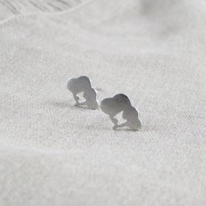 'Silver Linings' Cloud Ear Studs