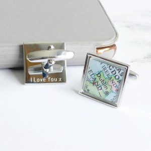 Personalised Map Location Square Cufflinks by EVY DESIGNS