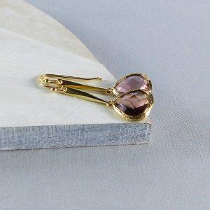 'Elodie' Gold Peardrop Earrings by EVY Designs