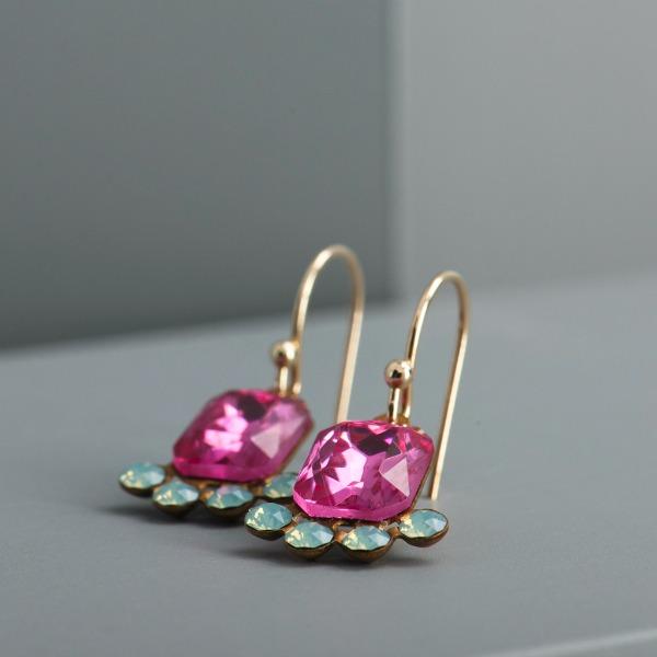 Vintage Crystal Earrings - www.evy-designs.com
